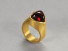 22 karat gold and garnet trillium
