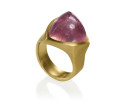 22 karat gold and pink tourmaline