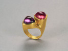 22 karat gold. Amethyst and Tourmaline.