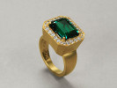 22 karat gold, emerald and diamonds
