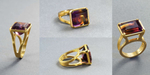JOELE ring in 22 karat gold and Ametrine