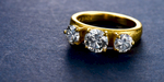 ZAKIEH ring. 22 karat gold and diamonds