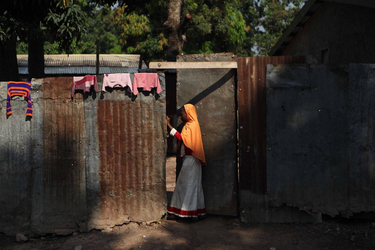 A Muslim girl in the Miskin district,Bangui.