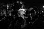 An Egyptian man reacts during what will be the last speech of foreign Egypt's president Mubarak.