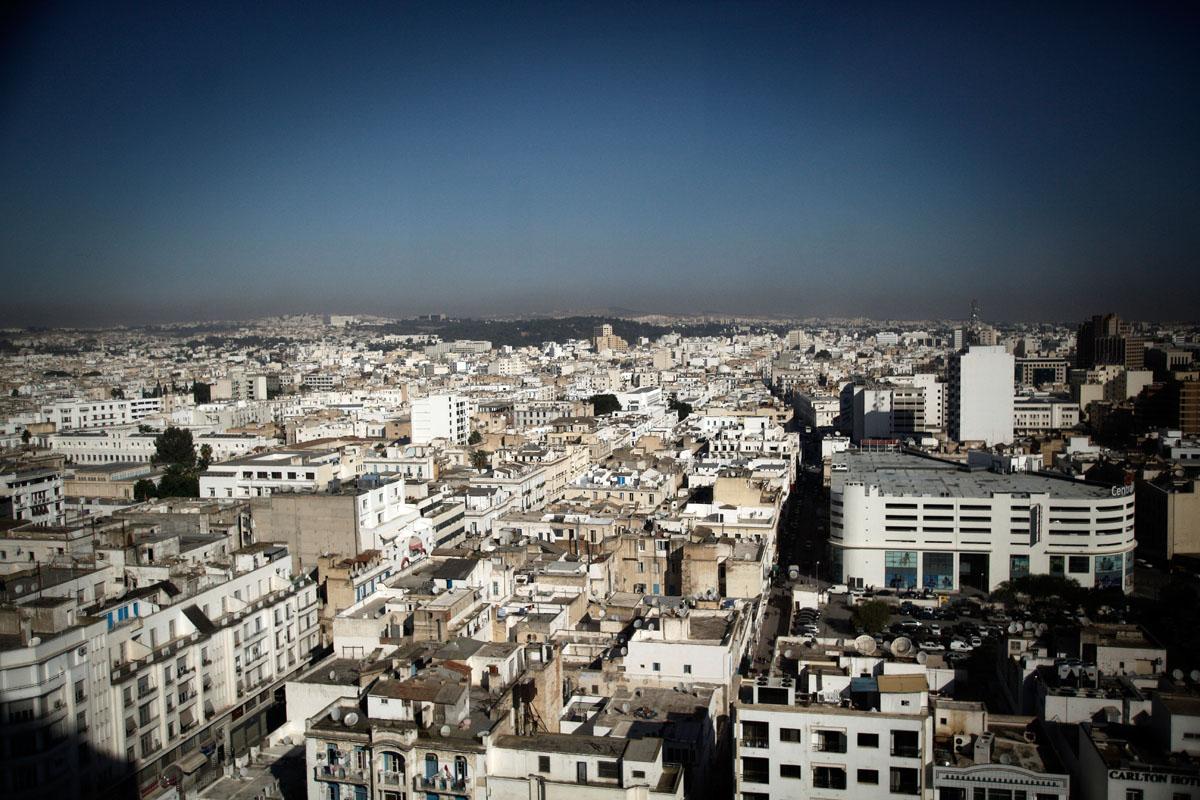 Overview of Tunis,Tunisia.