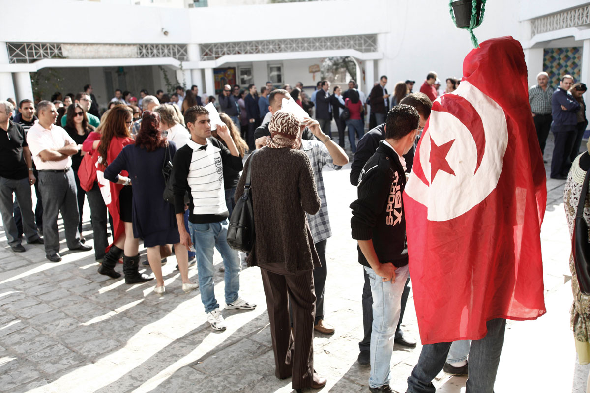 First free elections in Tunisia.