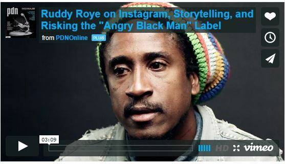 """PDN Video: Ruddy Roye on Instagram, Storytelling, and Risking the """"Angry Black Man"""" LabelPhotographer Ruddy Roye has attracted 116,000 Instagram followers despite–or perhaps because of–his gritty, difficult subject matter and the long captions he posts to help humanize his subjects. Using Instagram largely as a tool of social activism, Roye draws attention to racial and economic injustice primarily in New York City, and often in the Bedford-Stuyvesant neighborhood of Brooklyn, where he lives. """"A lack of black images [and] black photographers has created this void for people like me,"""" says Roye, who was born and raised in Jamaica. """"Instagram has allowed me a light that didn't exist before."""" In this video, he explains how he found his Instagram voice, and discusses the professional risks he is taking by refusing to look away and remain silent."""