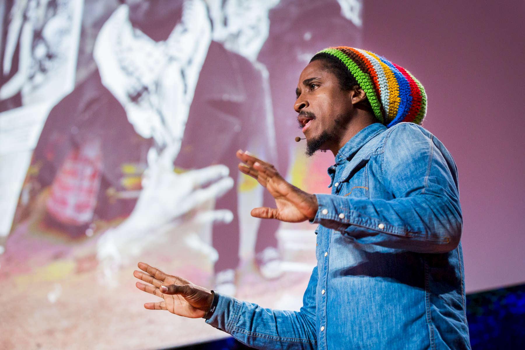Ruddy Royle speaks at TEDYouth, Session 2, November 15, 2014, Brooklyn Museum, Brooklyn, New York.  Photo: Ryan Lash/TED