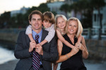 Family photography session in downtown Charleston, South Carolina at The Battery.