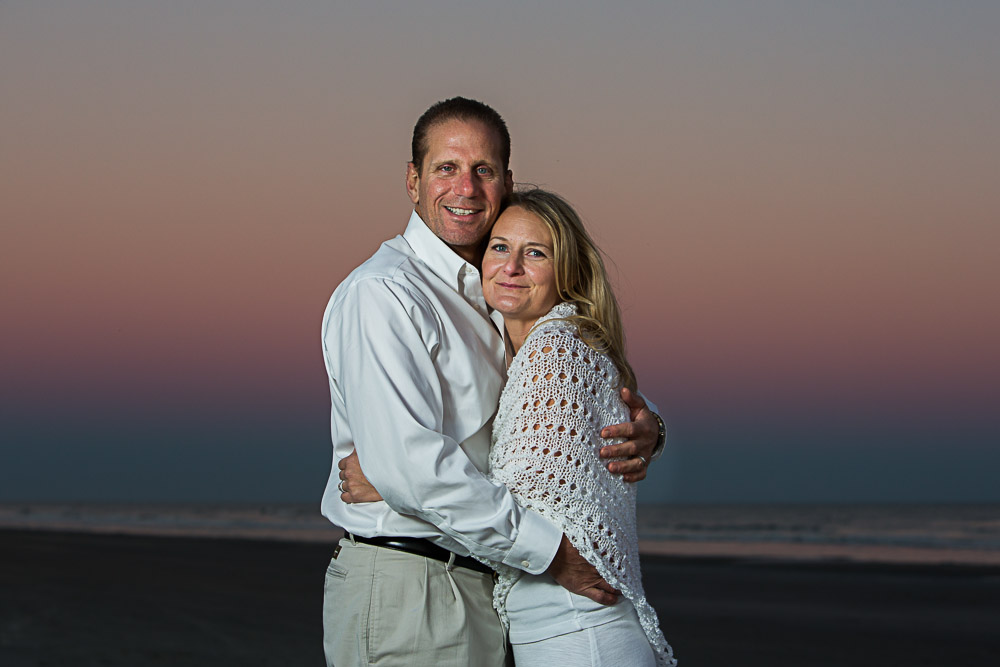 Isle of Palms beach photography session.  25th Ave. section of the beach for their beach photo session.