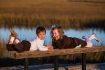 Pitt Street Bridge family photo session in Mt. Pleasant, SC.