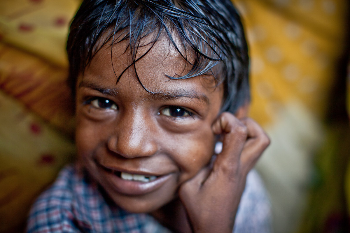 Just because they are poor in live in a slum doesn't mean they are without happiness and hope.