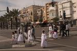 Asylum seeker From Eritrea return from Saturday pray in south Tel Aviv.