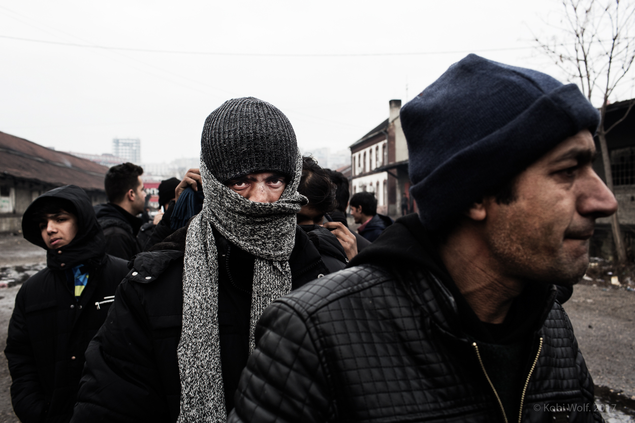 Afghan Refugee in the main train station of Belgrade Serbia, as temperatures remain below zero Celsius. Since Europe shut down its borders thousands have found themselves stuck in the Balkan country