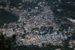 An estimated 500,000-70,000 people are displaced by the earthquake in Port-au-Prince . After the earthquake thousands of homeless people fled to other parts of the country, but many settled in improvised camps around the capital.