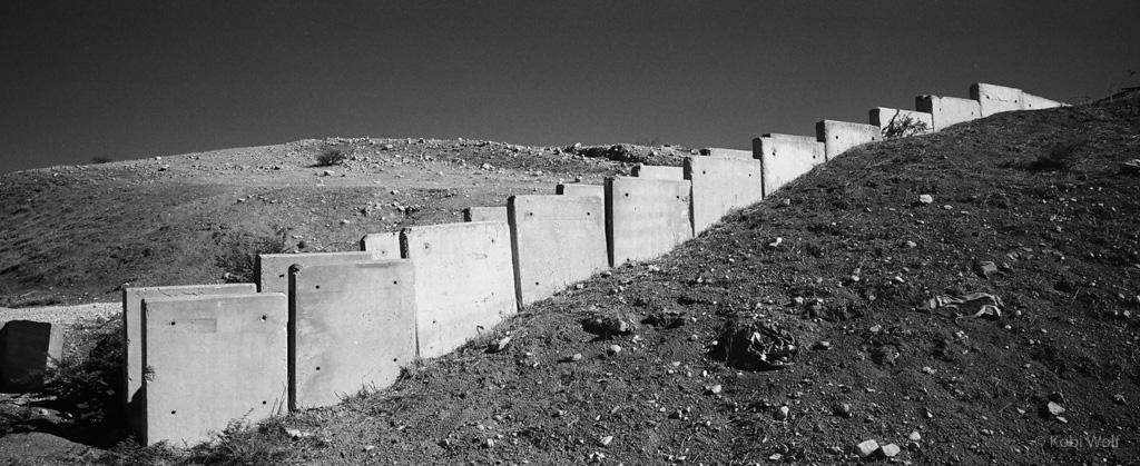 stairs to the Israeli  bunker in Jordan Valley