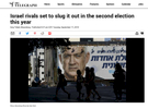 The Telegraph - Israel election 2019