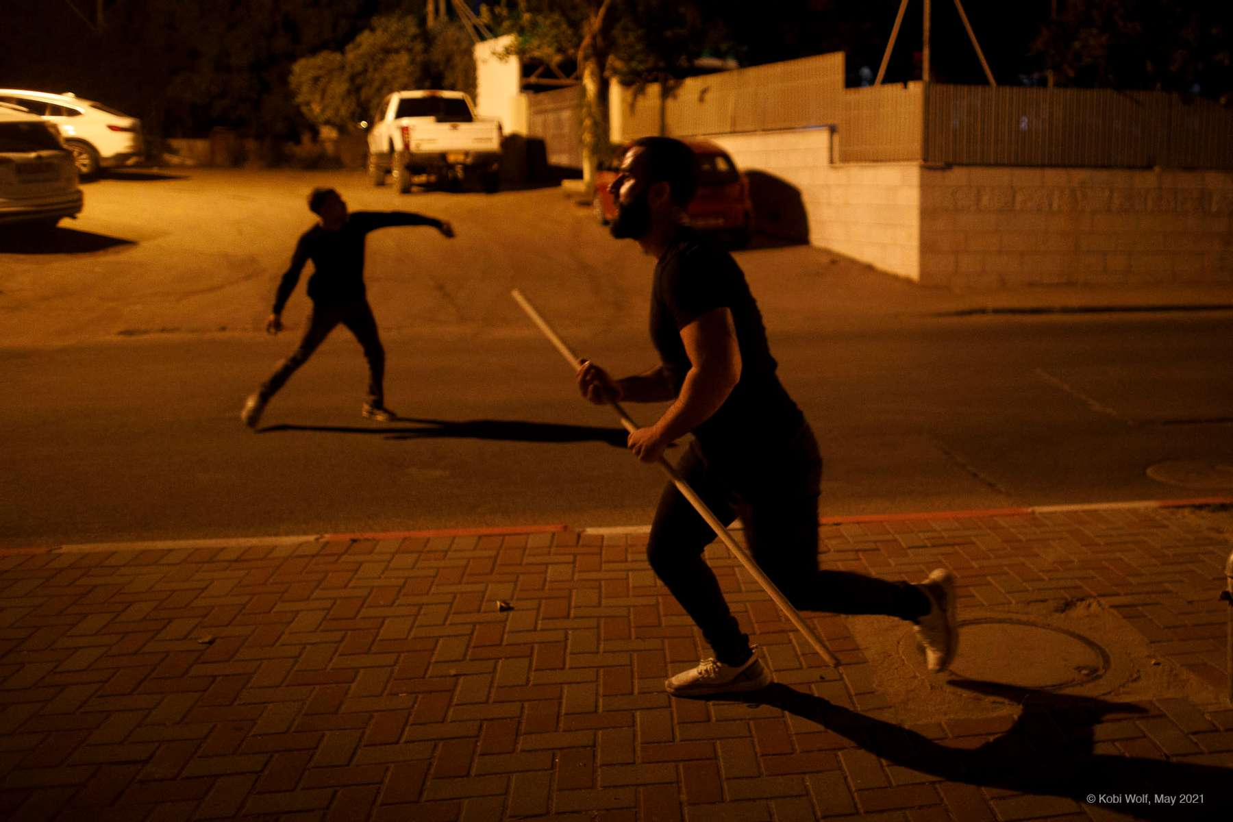 Far right jewish attack arabs  in a demo against the Israeli Arab in the city of Ramla in Ramla Israel on May 11 2021 photographer: Kobi Wolf