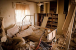 The room of the old lady who killed in her home when her house hit a direct rocket in Ashkelon, Israel on May 11 2021 photographer: Kobi Wolf