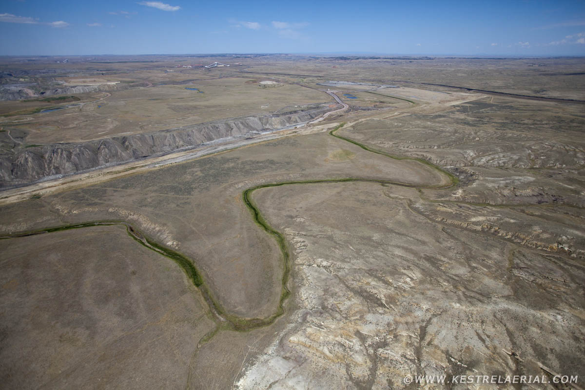 Hundreds of anemic tributaries to the Powder River end up draining into the vast pits.