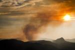 Forest fire on the Montana/Idaho border.