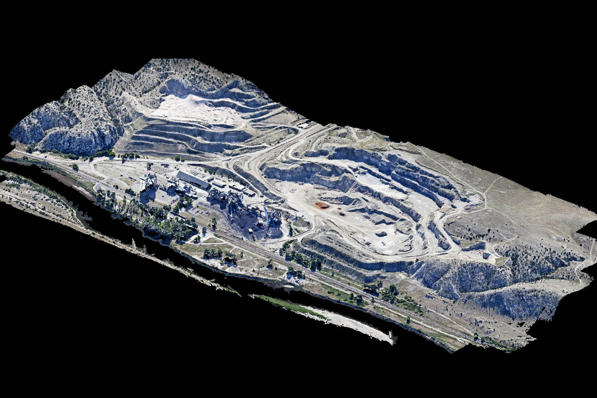 3D lanscape model constructed from dense point cloud of more than 3 million pixels/points.