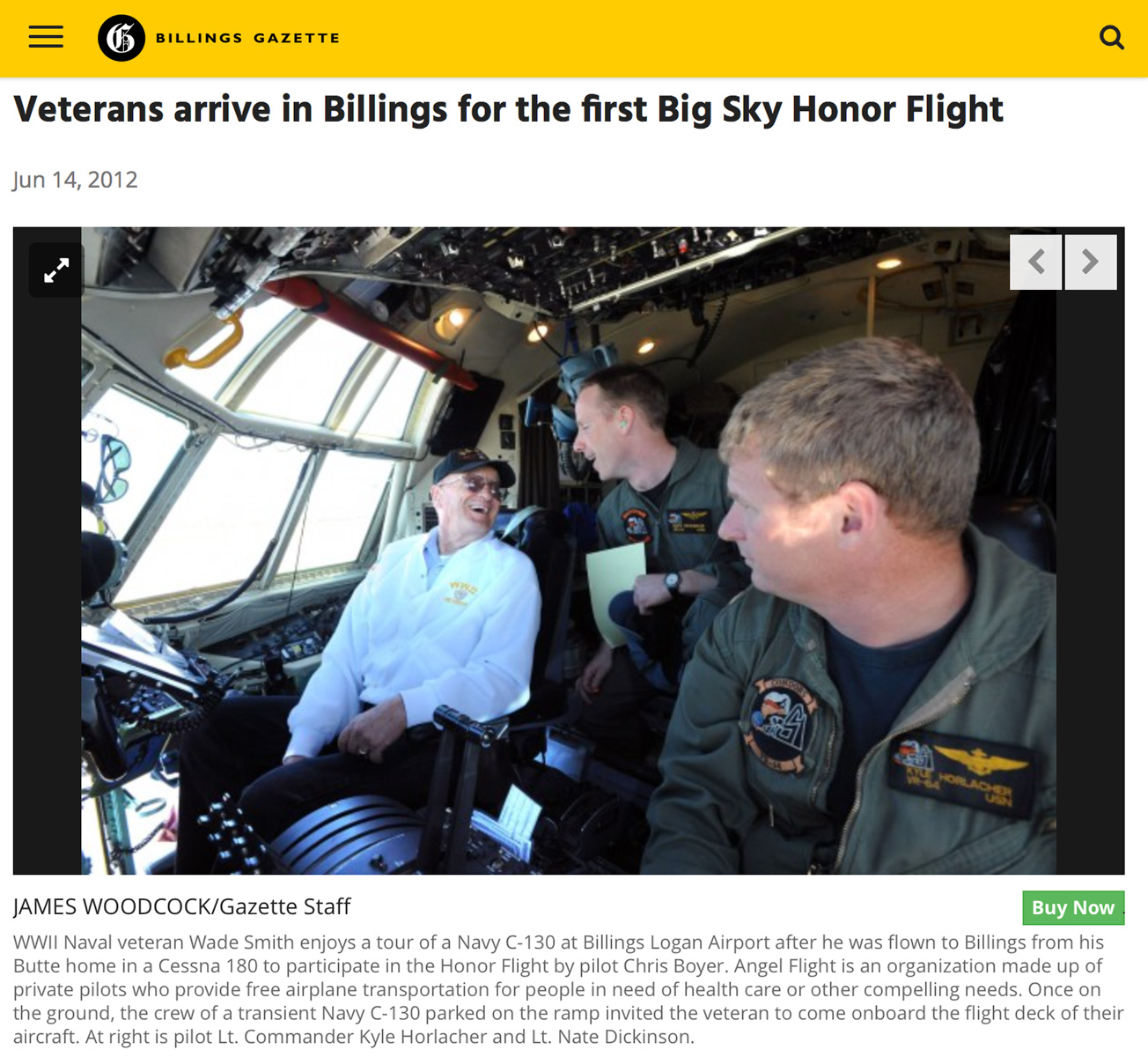 Billings Gazette Article on Big Sky Honor Flight