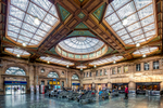 Ornate Victorian design of main waiting room and concourse allowing copious natural light.Client: Network Rail