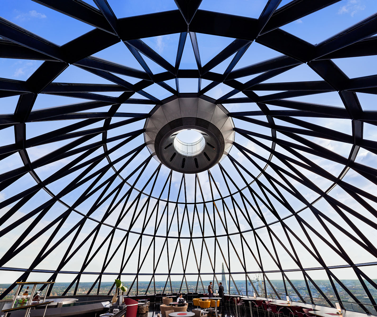 Private members bar / restaurant at top of London's iconic tower.Client: Baizdon / Evans Randall