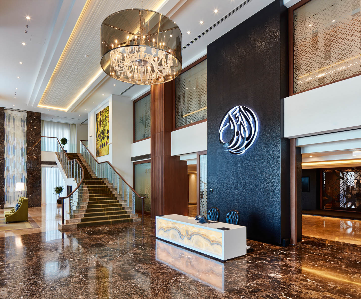 Design and supply of fine Italian marble for Qatari Bank headquarters.Client: Stalgi