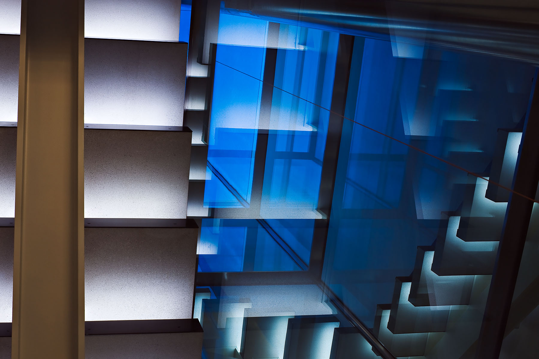 Stairwell of new build houseClient: BLDA Architects