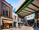Highly complex remodelling of historic Borough Market to incorporate viaduct for trains in addition to creating new retail buildings and a glazed market hall.Client / Architect: Jestico + Whiles