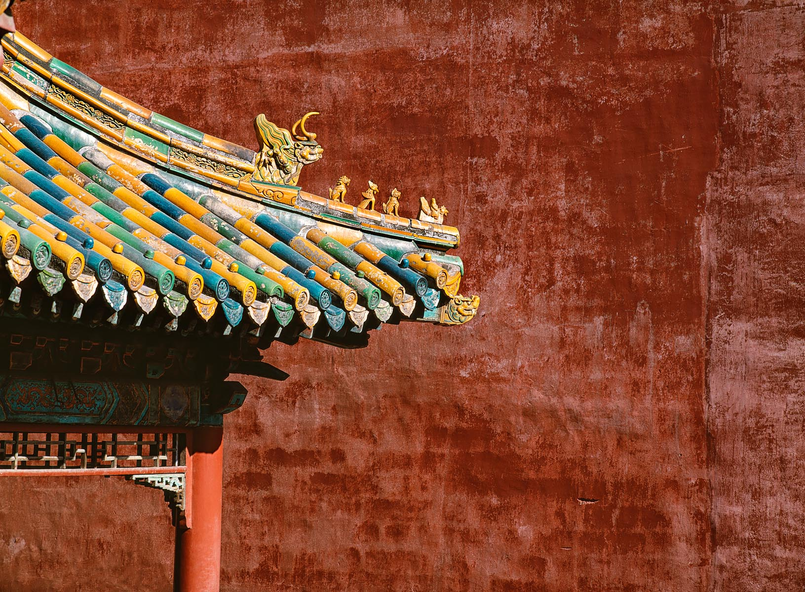 Temple Roof - Forbidden City, Beijing, China
