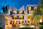Super-prime new build villa 'Brazillian Emerald', designed by Myron Goldfinger on coast of Anguilla.Client: Telegraph Group