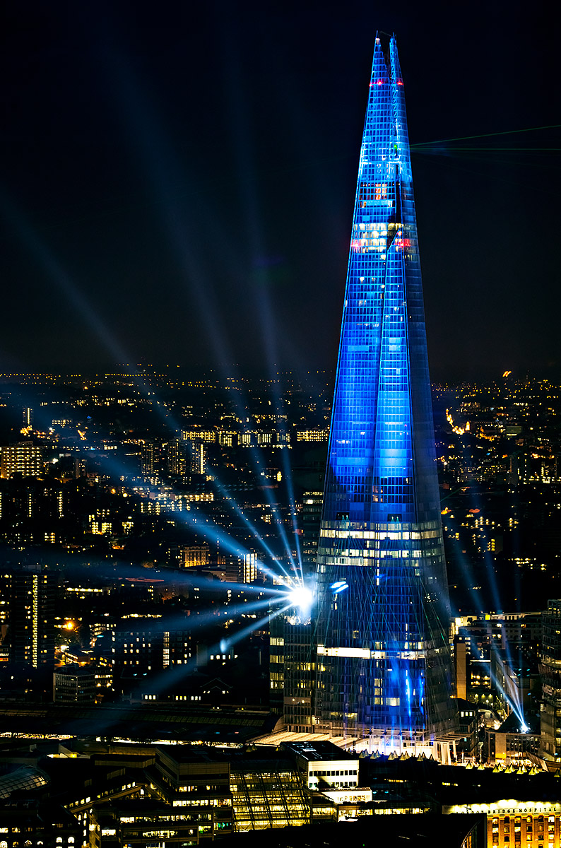 The Shard Illuminated - View from The Gherkin