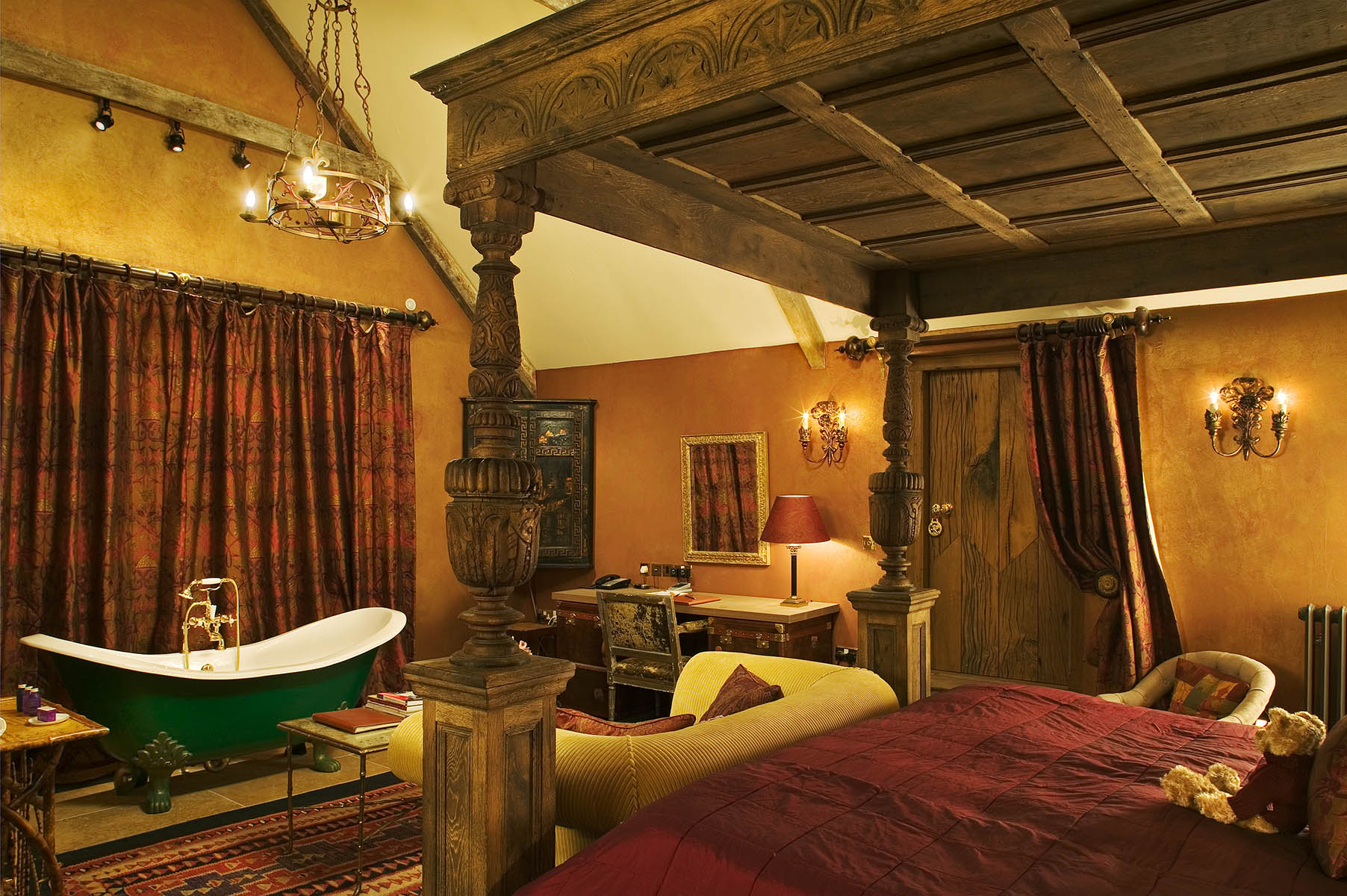 Luxury spa Hotel designed from Elizabethan Manor HouseClient: Lutron