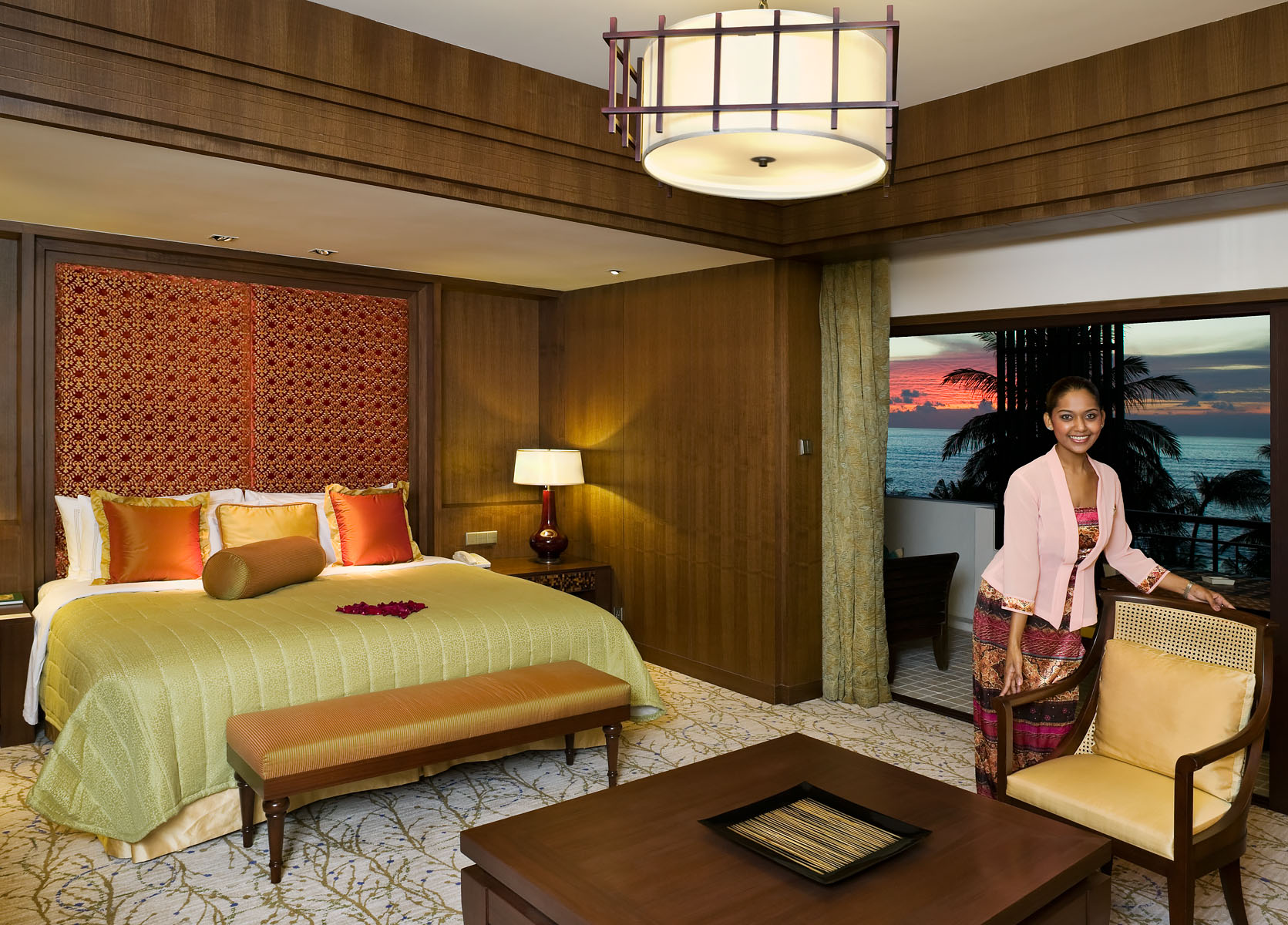 Bedroom of Presidential Suite in Luxury Hotel and Spa on island of PenangClient: Shangri-La