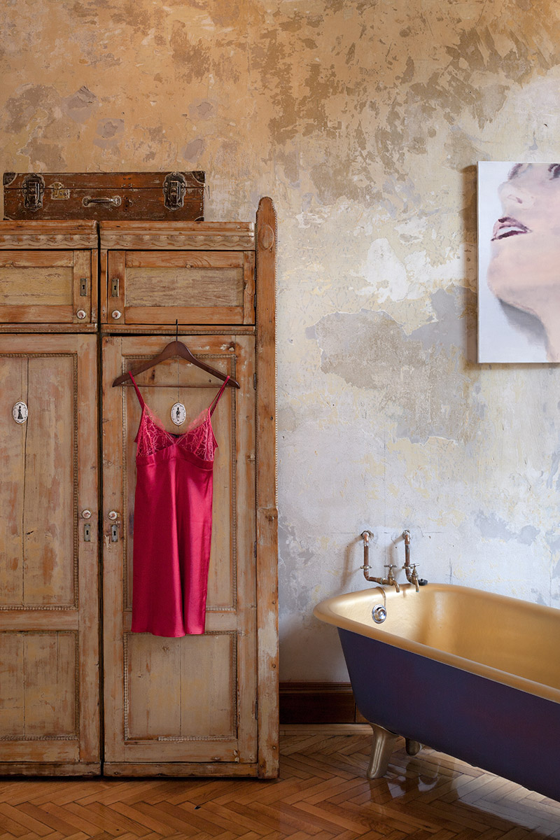 Eclectic boutique hotel and creative community set in grand Budapest house using reclaimed furnishings and curios.Client: Brody House