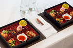 Bento Box concept for lunch service at HQ of worlds oldest scientific academy.Client: Royal Society