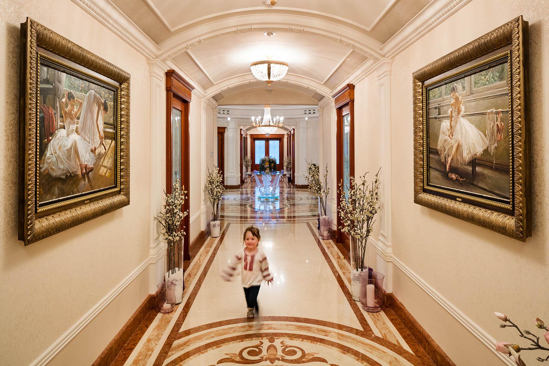 Girls in corridor