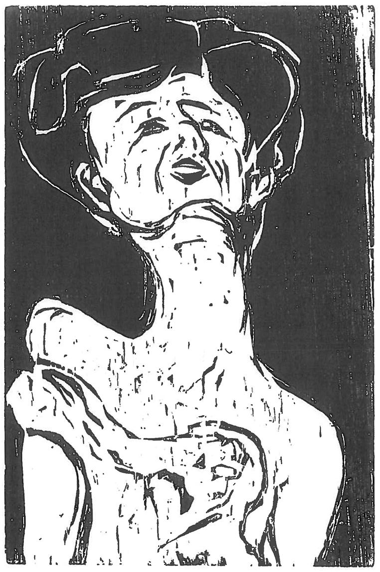 Ernst Ludwig KIRCHNER (1880-1938)Wood cut37,7 x 25,5 cmBest.-Kat.-Nr. 132Buchheim Museum der PhantasieBernried am Starnberger See