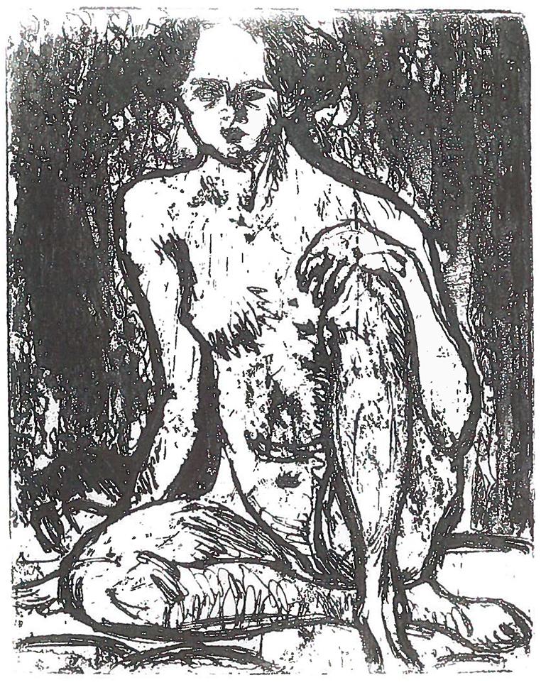 Ernst Ludwig KIRCHNER (1880-1938)Etching22,9 x 17,9 cmBest.-Kat.-Nr. 136Buchheim Museum der PhantasieBernried am Starnberger See