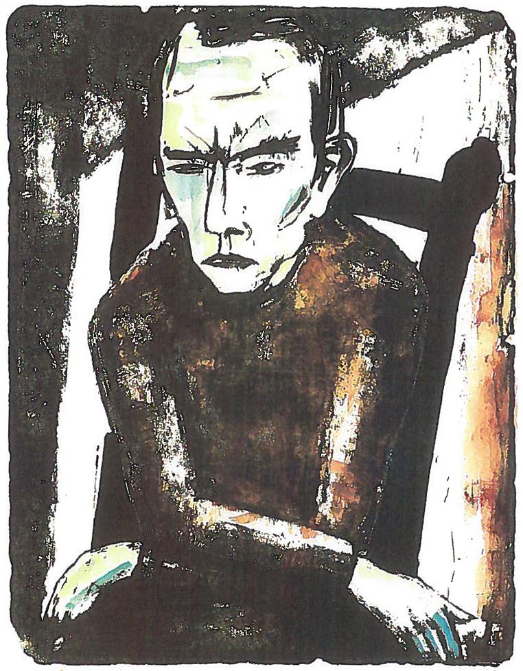 Max KAUS (1891-1977)Lithograph, colored on stone48,7 x 38 cmBest.-Kat.-Nr. 634Buchheim Museum der PhantasieBernried am Starnberger See© VG Bild-Kunst, Bonn 2015