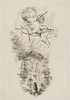 "George GROSZ (1893 - 1959)Reed, pen and ink, and opaque white on paper23 3/8 x 16 1/8 in (59,3 x 40,9 cm)Inscribed ""I Kapitel{quote} bottom right.Stamped on the reverse ""GEORGE GROSZ NACHLASS"" and numbered UC-295-21Please click HERE for full fact sheet"