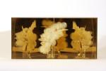 Brigitte NaHoNGlue, glass, plexiglass 30,4 x 62,8 x 15,4 cm (12 x 24 5/8 x 6 1/8 Inches)