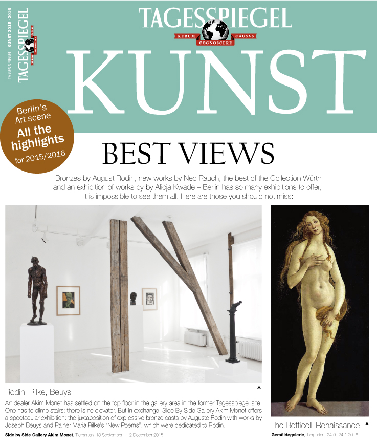 Please click here for the preview section of TAGESSPIEGEL KUNST 2015-2016 (German edition).