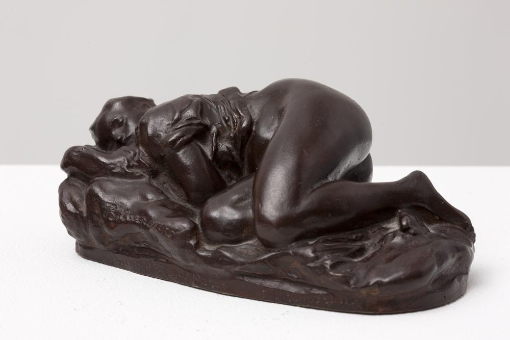 Jean-Baptiste CARPEAUX (1827-1875)Bronze with dark brown patina – sand cast6 x 14 x 8 cmInscribed « B. CARPEAUX » on the back and « SUSSE FONDEUR, PARIS cire perdue »Private collection, Switzerland