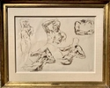 Eugène DELACROIX (1798 - 1863)Brown ink on paper9 1/2 x 13 3/8 in (24 x 34 cm)Stamped with Delacroix estate mark LUGT 838a in red ink lower rightPlease click HERE for full fact sheet