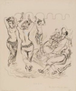 George GROSZ (1893 - 1959)The Bum's Rush for AllahReed pen, pen and ink, and opaque white on paper22 1/2 x 18 7/8 in (57,1 x 48 cm)Please click HERE for full fact sheet