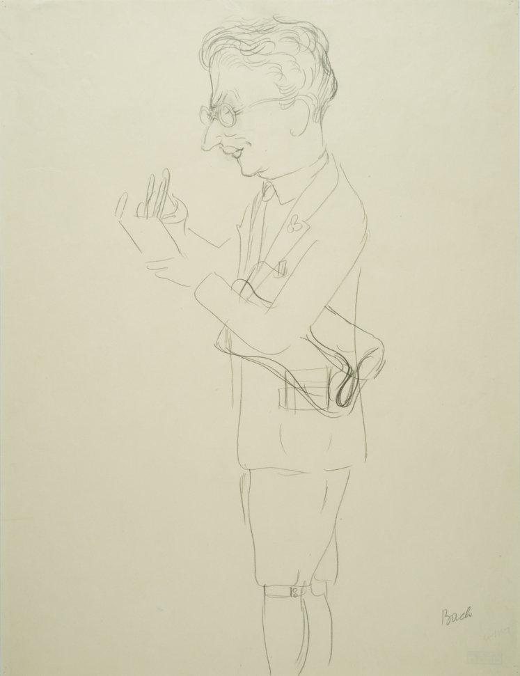 """George GROSZ (1893-1959)Pencil on paper60,7 x 46,1 cmAnnotated lower rightStamped on the reverse """"GEORGE GROSZ NACHLASS"""" and numbered UC-407-19Costume designs for """"Der Kandidat"""" by Carl Sternheim, play in four acts after the work of Gustave Flaubert; Performance: Deutsches Theater, Kammerspiele, Berlin, January 27, 1930"""